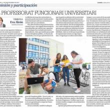 El professorat funcionari universitari (Levante de Castelló, 11/9/2017)