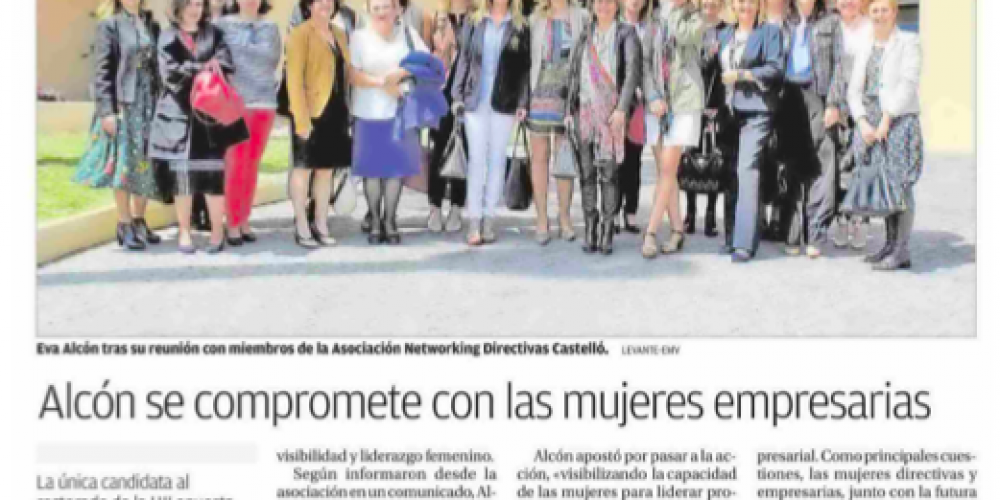Alcón se compromete con las mujeres empresarias (Levante, 24/04/18)
