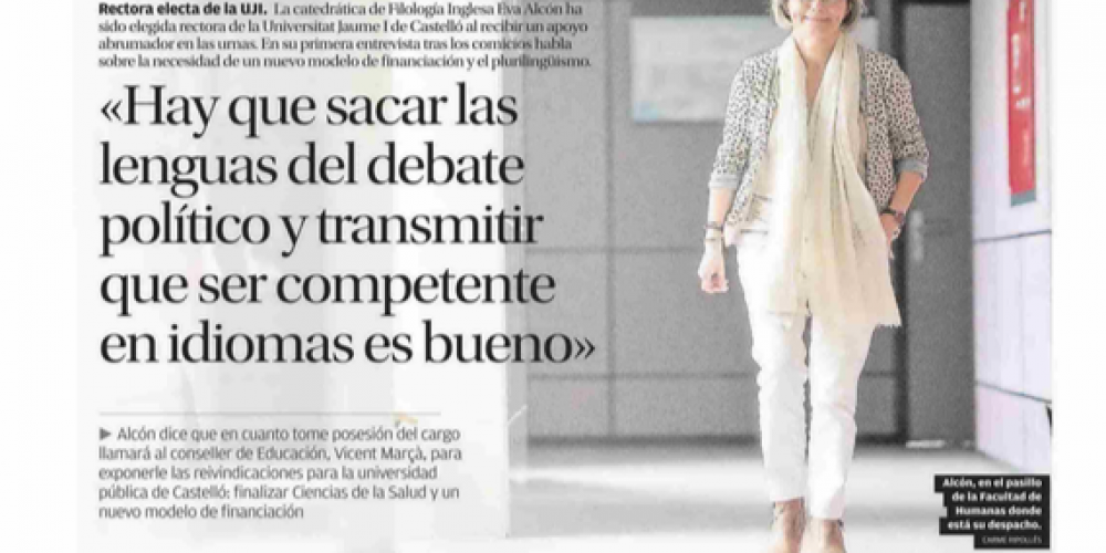 Entrevista en El Levante de Castelló (28/05/18)