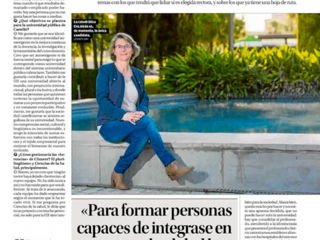 Entrevista en el Levante Castelló